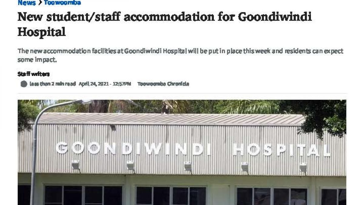 Goondiwindi Courier Mail Article April 27th